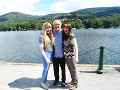 Day at the lakes with grandad (Elysia in Wonderland) Tags: mum lake district elysia grandad ron funny laughing hilarious bowness windermere