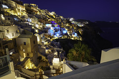 Nightlights of Oia v2... (Zoltán Melicher) Tags: oia santorini greece sony ilce a7r zeiss city cityscape landscape night nightscape bluehour europe mediterran aegean sea island travel summer architecture building old town tradition mirrorless history o