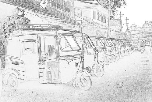 India - Karnataka - Gokarna - Auto Rickshaw - 2c