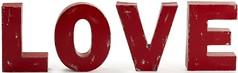 Scritta in metallo rosso, bellissima e immortale decorazione a parete. (design italiano) Tags: love decorazione oggettodarredo decorazionemurale amore accessorio innamoramento