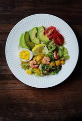 Avocado Salad (EndlessJune) Tags: food breakfast pepper avocado salad yummy lemon nice nikon tasty shrimp dressing lettuce oil vinegar refreshing foodphotography  blacksesamepaste     goodtasting   nikond7000
