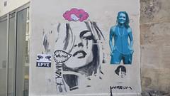 20140525_150315 (BeaheF) Tags: street camera portrait urban woman streetart france art face collage photography graffiti surveillance wheatpaste tian urbanart diana amelie rigg stret konny epye