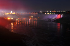 Niagara Falls (Max McMillan) Tags: bridge red ontario canada night lights niagarafalls waterfall purple tripod 28mmf28ai nikond300
