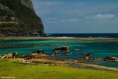 View Over Lovers Bay From Near Capella Lodge, Below Mt Lidgbird & Mt Gower, Lord Howe Island, NSW (Black Diamond Images) Tags: ocean mountain island scenic australia nsw reef lordhoweisland worldheritagearea mountlidgbird mountgower mtgower mtlidgbird thelastparadise loversbay