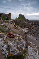 Holy Island Rings (Callaghan69) Tags: uk longexposure castle landscape evening coast nikon rocks dusk landmark icon historic northumberland rings le iconic holyisland lindisfarnecastle northeastengland northumbrian d7100 cokingndfilter tokina1116 nikond7100