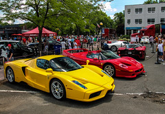 Italians (Rivitography) Tags: blue red white car yellow canon rebel italian connecticut fast ferrari exotic adobe enzo t3 expensive rare supercar mc12 maserati horsepower lightroom f40 f50 westhartford 2014 p45 rivitography concorsoferrarifriends