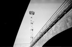 ... (Madame Biche) Tags: camera bridge bw white black film vintage lomo lca lomography noir power creative tunnel nb line 200 pont rodinal expired russian cheap metz analogic fomapan blan analogique