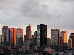 sunset (moondrop) Tags: city sunset sky japan clouds buildings tokyo shinjuku