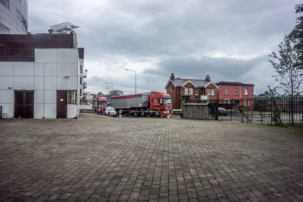 Trucks Entering Limerick Port Area At Steamboat Quay [Next Door To The Clarion Hotel]