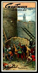 German Tradecard - Siege Front Screen (cigcardpix) Tags: 3 vintage advertising roman engineering ephemera weapons tradecards