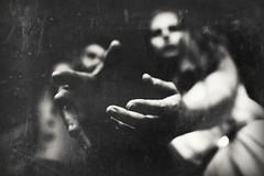 De Profundis (Eric Bnier-Brckel) Tags: shadow portrait bw woman man monochrome dark grainy stealingshadows ofportalsandparallelworlds bnierbrckel