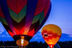 Waterford Hot air balloon lantern-1-2 (sandemadison) Tags: wisconsin night canon hotairballoons tamronspaf1750mmf28xr waterfordwi canont2i waterfordballoonfestival