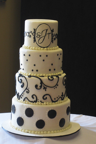 Shelby's Black and White Wedding Cake