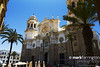 Catedral de Cadiz (Mark R Farrington) Tags: plaza city shadow summer holiday canon square photography eos golden spain ancient europe catholic bright religion bluesky cathederal palmtree dome moorish 7d cadiz cappuchino 2014 desc2012