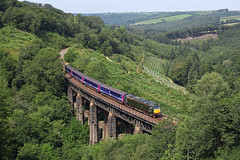 57604 Largin Viaduct 26th July  2014 (John Eyres) Tags: great first loco exeter western par totnes hauled largin 57604