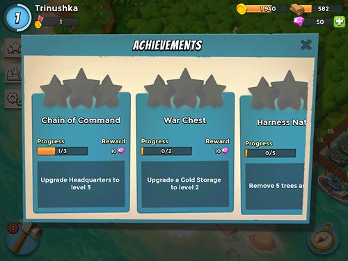 Boom Beach Achievements: screenshots, UI