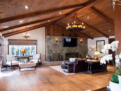 (deanmackayphoto) Tags: wood light orchid flower lamp stone table chair fireplace floor guitar ceiling livingroom couch sofa ottoman renovation decor fixture interiordesign hardwood endtable