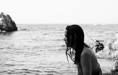 by the sea (gorbot.) Tags: sea portrait blackandwhite beach naturereserve sicily roberta sicilia canoneos5d riservanaturaledellozingaro silverefex carlzeisszf50mmplanarf14