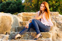 Adri (Maquieira Photography) Tags: atardecer mujer chica adriana tony zapatos galicia sola tarde roca vigo escaleras piedra sentada apunta agua antoniomaquieiraprez