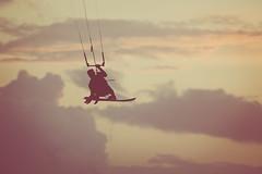 Kitesurfer at Sunset (BuzzleCup) Tags: sport kitesurfing isleofwight brook iow iw wightiw