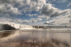 CASCADING TIDE (lynneberry57) Tags: sea sky lighthouse seascape beach water clouds coast pier tide slope seaham