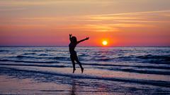 sunset sky woman water beauty silhouette nikon sweden happiness sverige vatten sommar öland 2014 känsla d7000 lyckorus