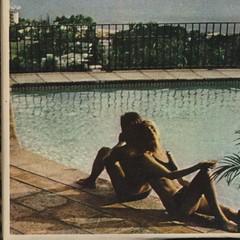 FOUND: cube (~filth~filler~) Tags: dog pool girl vintage found 60s bikini 70s photocube