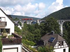 Willingen (D) railway bridge, August 21, 2014 (cklx) Tags: railroad germany hessen railroadbridge willingen archedbridge spoorbrug kurhessenbahn waldeckerland