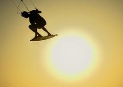 Kite surfer. (Don Mosher Photography) Tags: travel kite beach surfing aruba