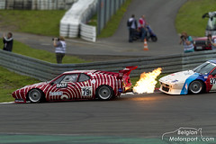 Keep your distance - 2x BMW E26 M1 Procar (belgian.motorsport) Tags: classic race racecar fire m1 flames grand racing best prix bmw oldtimer drm gp exhaust deutsche racecars revival 2014 nürburgring nurburgring procar e26 rennsportmeisterschaft