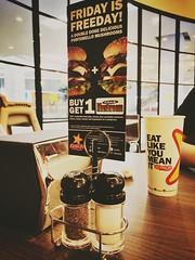 Carl's (mohammaddirgatama) Tags: new food america mall indonesia singapore open top burger jr jakarta junior opening buka senayan baru carls franchise makanan cinere bunderan belleveu belleuveu
