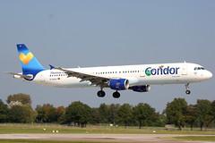 D-AIAA // Condor // A321-211 (Martin Fester) Tags: hannover condor runway haj a321 spotten langenhagen hannoverairport sdbahn 09r27l a321211 eddv langenhangen daiaa hajeddv runwaysouth
