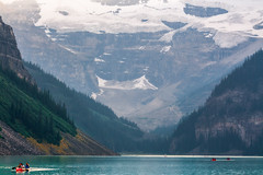 Epitome of perfection (JoLoLog) Tags: trees lake canada mountains rocks joe canoe glacier alberta rockymountains lakelouise banffnationalpark canadianrockies victoriaglacier themostbeautifulplaceonearth canonxsi