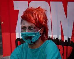 Surgeon (Slimdaz) Tags: charity red green hair blood eyes birmingham published mask pentax zombie medical doctor ear undead press medic printed fundraiser surgeon zombiewalk birminghammail k30 pentaxsmcdal50200mm slimdaz