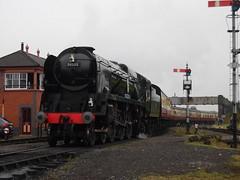 BR 34053 Sir Keith Park @ Kidderminster Town (Sim0nTrains Photos) Tags: svr steamlocomotive severnvalleyrailway britishrailways battleofbritainclass southernrailways kidderminstertown svrautumnsteamgala 34053sirkeithpark svrautumnsteamgala2014