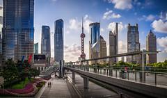 Lujiazui (Rob-Shanghai) Tags: leica city sky tower day cityscape shanghai 28mm pearl lujiazui m240 leicam240