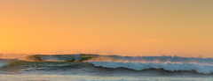 Last light on the Waves (Dylan Farrow) Tags: blue sunset sea beach water yellow rock waves australia perth wa canon5dmarkiii
