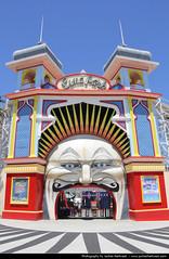 Luna Park, Melbourne, Australia (JH_1982) Tags: park st fun clown entrance australia melbourne fair victoria luna vic australien attraction kilda australie austrlia   australi