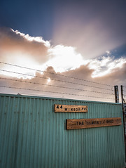 Beautiful Dementia (Tbone Photography) Tags: sun men clouds port shed lincoln peninsula dementia eyre the