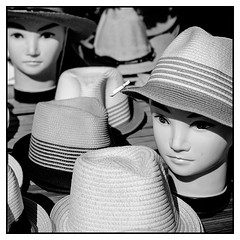 Gentlemen in hats (Steve U) Tags: france mannequin wearing hat shop table mannequins south hats wear southern heads sell selling