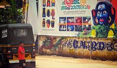 Kummattikali Thrissur Kerala (Ashit Desai) Tags: india festival temple wooden dance mask kali painted south kerala ritual onam desai 2014 kummatti kummattikali ashit vadakkunnatha