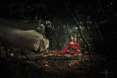 """The Visit"" (Azadeh Brown) Tags: fairytale forest gothic goth medieval littleredridinghood fantasy gothgirl fairies azadeh darkart darkforest newromantic gothbride gothwedding snowwhiteandrosered darkfairytale breadandshutter azadehbrown deadlyd0ll laylagordon"