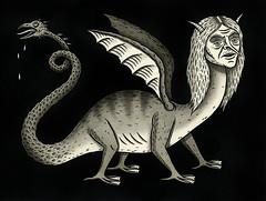 """Dragon Lady"" (Crispy Copper) Tags: art ink portland drawings pdx fecalface"