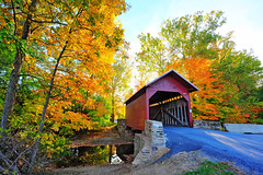 Fall Photos (StateMaryland) Tags: road wood old autumn trees history fall colors leaves century wooden colorful rustic maryland landmark structure transportation historical serene tranquil preservation eighteen eighteenth truss browntruss