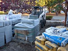 photo - Yard Re-do, end of Day 8 (Jassy-50) Tags: california stone yard photo cement pebbles cobblestone bobcat cinderblock alameda bluestone blackpebbles yardredo