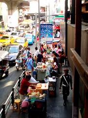 Hectic streets, Bangkok, Thailand (Chasing Team Charolude) Tags: world streetfood street food police bangkok thailand busy hectic travel bustling streetphoto