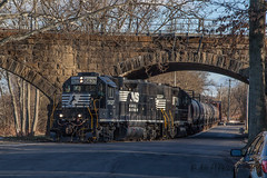CSAO YPMO-R1 @ Morrisville, PA (Darryl Rule's Photography) Tags: 2017 aestaley acela bridge buckscounty cpdq csao clouds cloudy conrailsharedassets dq dairyqueen delmoorave diesel diesels emd gp382 local march morrisville necorridor ns norfolksouthern northeastcorridor oldline overunder pa prr pennsy pennsylvania pennsylvaniarailroad railroad railroads staley staleylocal streetrunning sun tankcar tankcartrain tankcars tankers train trains winter ypmor1
