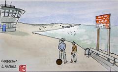 Le Tour de France virtuel - 40 - Landes (chando*) Tags: croquis sketch aquarelle watercolor france