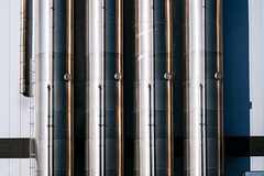 Pipes (toletoletole (www.levold.de/photosphere)) Tags: xt2 cologne fuji porz köln fabrik metall metal rohre factory pipes reflections spiegelungen abstract abstrakt