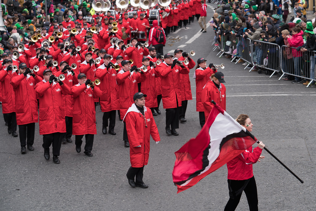 Illinois State University's Big Red Marching Machine [St. Patricks Parade 2017]-125849